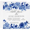 Asian Influence White Blue Floral |Bridal Shower