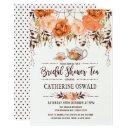 Autumn Fall Floral Boho Bridal Tea Party Invite