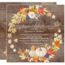 Autumn Pumpkin Rustic Bridal Shower Luncheon