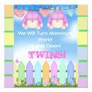 BABY SHOWER Invitations GIRL TWINS!