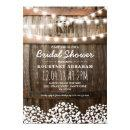Baby's Breath Rustic Wood Bridal Shower Card