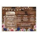 Bachelorette Bridal Shower Itinerary Jar Wood