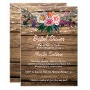 Barnwood Watercolor Fall Wildflowers Bridal Shower
