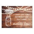 Be My Flower Girl | Rustic Country Bridesmaid