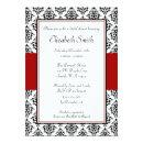 Black and Red Damask Bridal Shower
