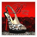 Black and Red Leopard Birthday Party