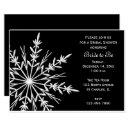 Black and White Snowflake Winter Bridal Shower