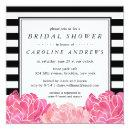 Black Stripe & Pink Peony Bridal Shower