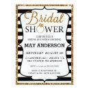 Black&White Gold Glitter Bridal Shower