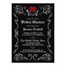 Black White Halloween Skeleton Bridal Shower