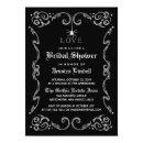 Black White Halloween Wedding Gothic Bridal Shower