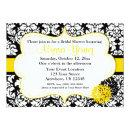 Black Yellow Damask