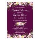 Blush Pink Marsala Red Floral Bridal Shower Invite
