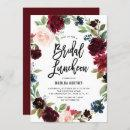Boho Watercolor Autumn Floral Bridal Luncheon
