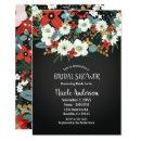Bold Funky Colorful Floral Dark Chic Bridal Shower