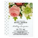 Botanical Flowers Vintage Bridal Brunch