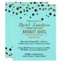 Bridal Luncheon Gold Confetti Tiffany Blue Shower