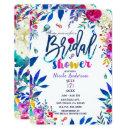 Bridal Shower Colorful Bright Bold Floral Flowers