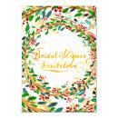 Bridal Shower  Floral Gold Rustic Green