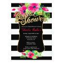Bridal Shower  - Floral Striped