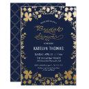 Bridal Shower , Vintage Navy Gold -small