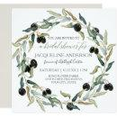 Bridal Shower Modern Olive Branch Leaf Wreath