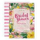 Bridal Shower | Pretty Yellow Pink Floral+Stripes