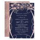 Bridal Shower Rose Gold Confetti Blue Navy