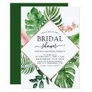 Bridal Shower Tropical Palm Watercolor Geometric