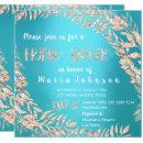 Bridal Shower Wreath Glitter Rose Gold Blue Ocean