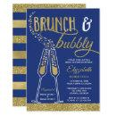 Brunch and Bubbly Bridal Shower Invite, Faux Gold