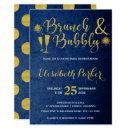 Brunch and bubbly navy glam gold bridal shower