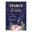 Brunch & Bubbly Bridal shower  Navy Gold