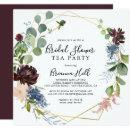 Burgundy Gold Geometric Bridal Shower Tea Party