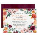 Burgundy Orange Pink Flowers Fall Bridal Shower