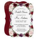 Burgundy Watercolor Floral Gold Foil Bridal Shower