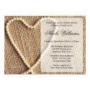 Burlap Pearl Heart Bridal Shower