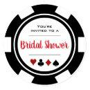 Casino Poker Chip Black and White Bridal Shower