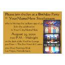 Casino Theme Party with personalized slot machine Invitation