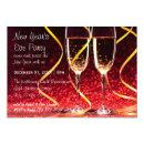 Champagne Glasses Photo - 3x5 New Year's Eve Party Invitation