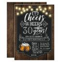 Cheers and Beers Birthday Invitation