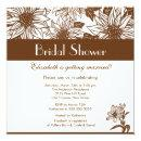 Chocolate Brown Sunflower Bridal Shower Invitations