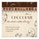 Chocolate Damask Swirl Batchelorette Party Invite