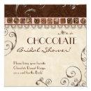 Chocolate Damask Swirl Bridal Shower