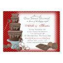 Chocolate Fountain Bridal Shower Red