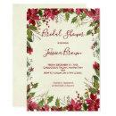 Christmas winter holiday bridal shower invite