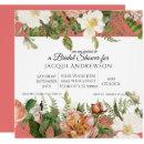 Coral Blush Pink Ivory Roses Floral Bridal Shower