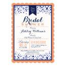 Coral Orange, White, & Navy Blue Bridal Shower