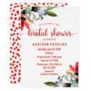 Coral Red Poppy Floral Bridal Shower