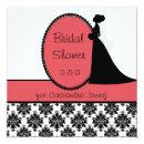Coral Silhouette Bride Bridal Shower